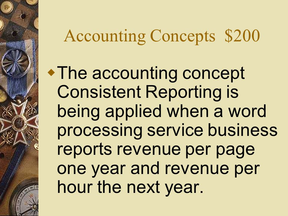 Accounting Concepts $200