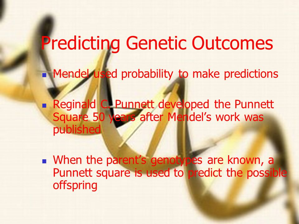 Predicting Genetic Outcomes