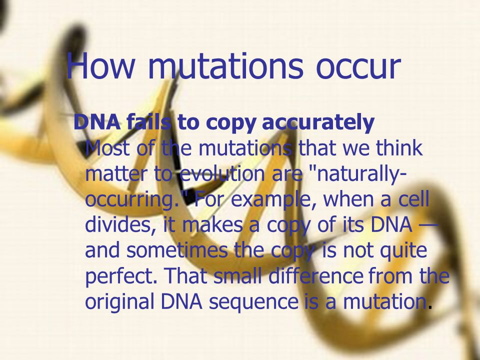 How mutations occur