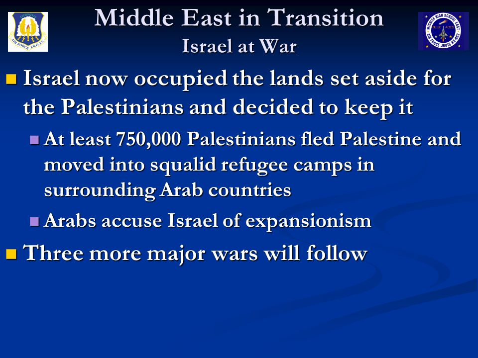 Middle East in Transition Israel at War