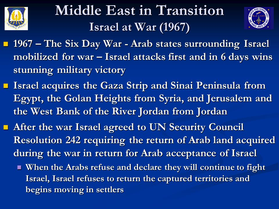 Middle East in Transition Israel at War (1967)
