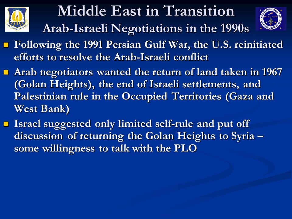 Middle East in Transition Arab-Israeli Negotiations in the 1990s