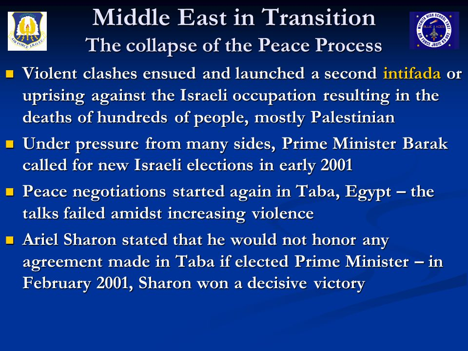 Middle East in Transition The collapse of the Peace Process