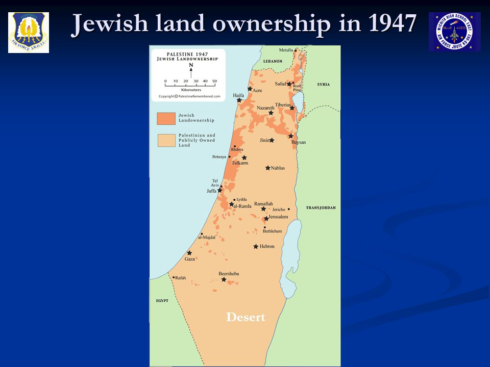 Jewish land ownership in 1947