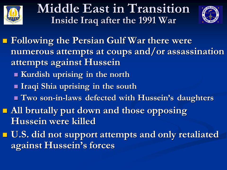 Middle East in Transition Inside Iraq after the 1991 War