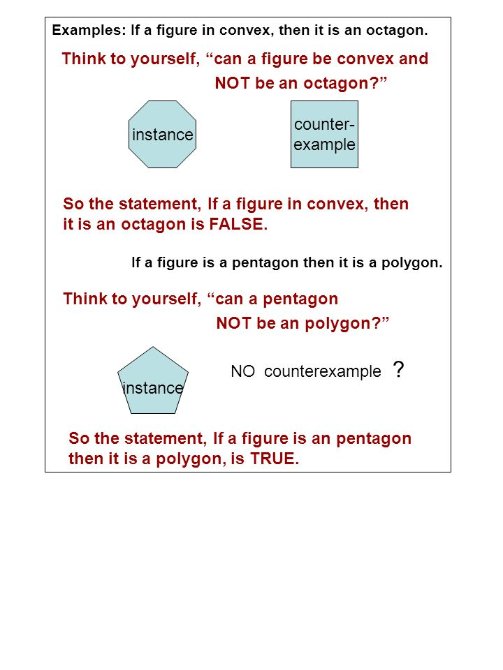 Think to yourself, can a figure be convex and NOT be an octagon