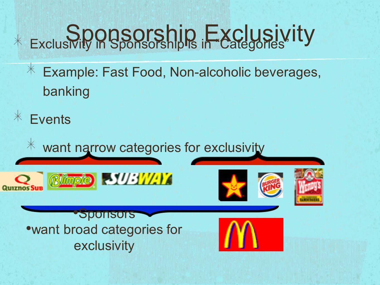 Sponsorship Exclusivity