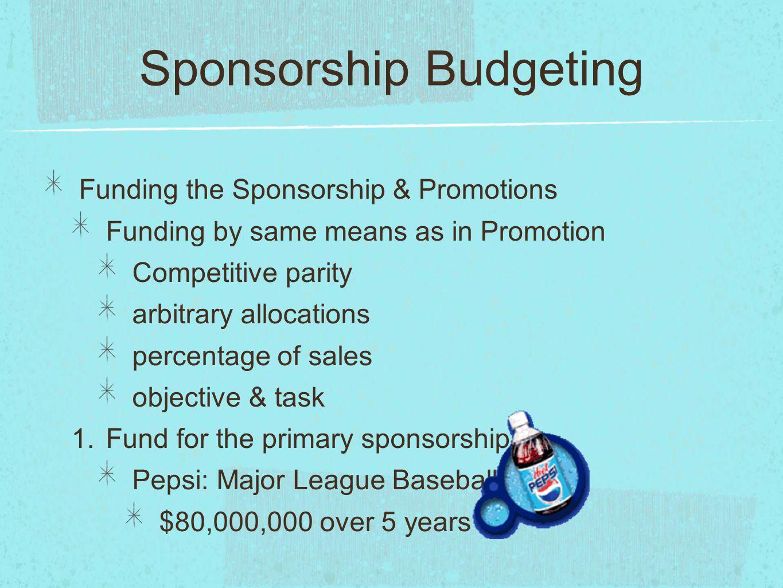 Sponsorship Budgeting