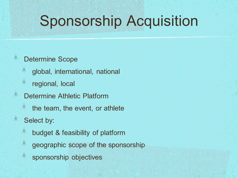 Sponsorship Acquisition