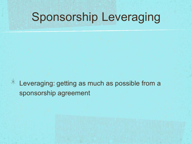 Sponsorship Leveraging