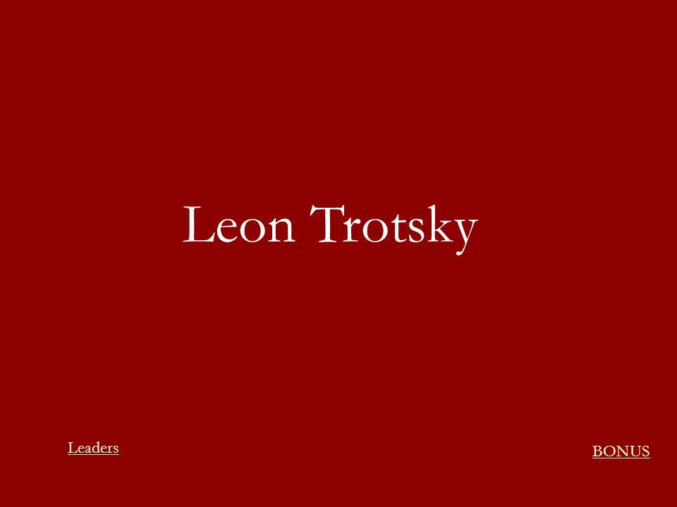 Leon Trotsky Leaders BONUS