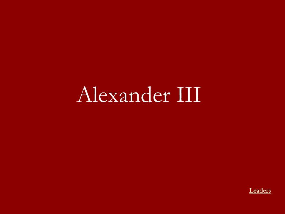 Alexander III Leaders