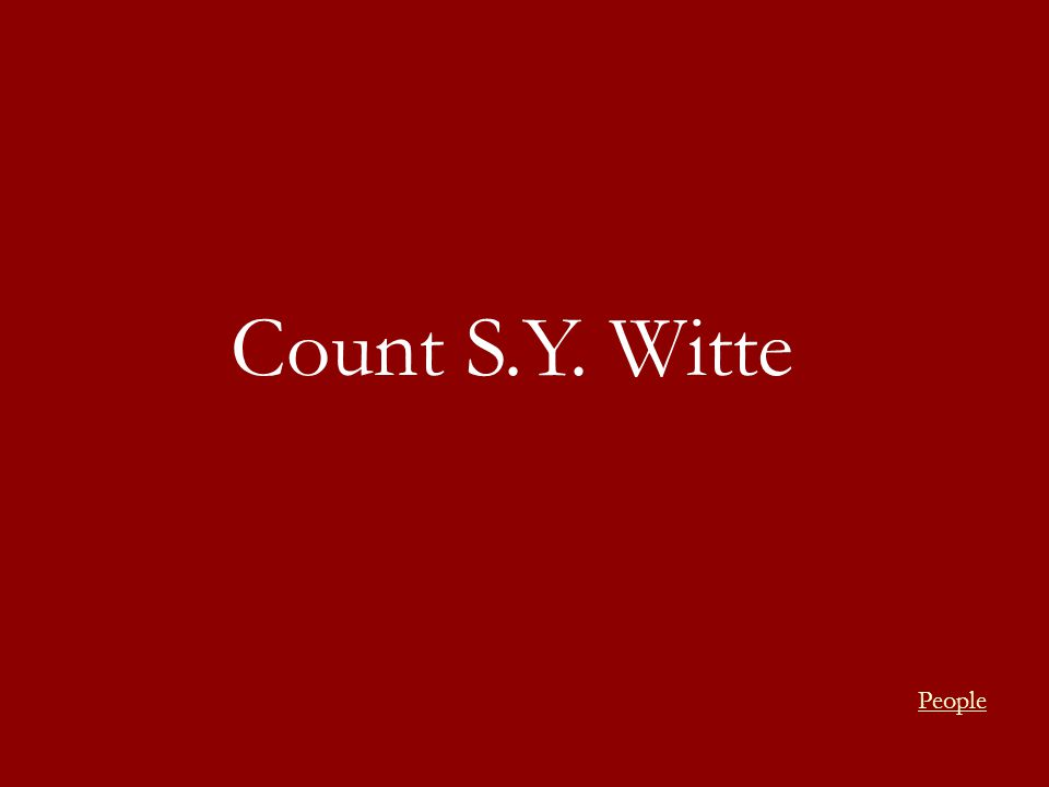 Count S.Y. Witte People