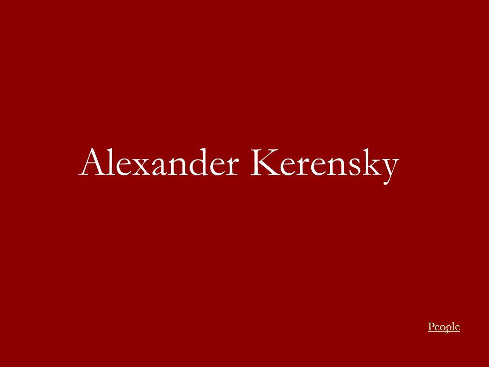 Alexander Kerensky People