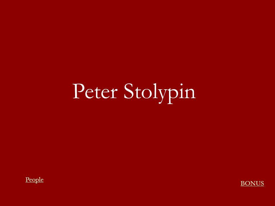 Peter Stolypin People BONUS