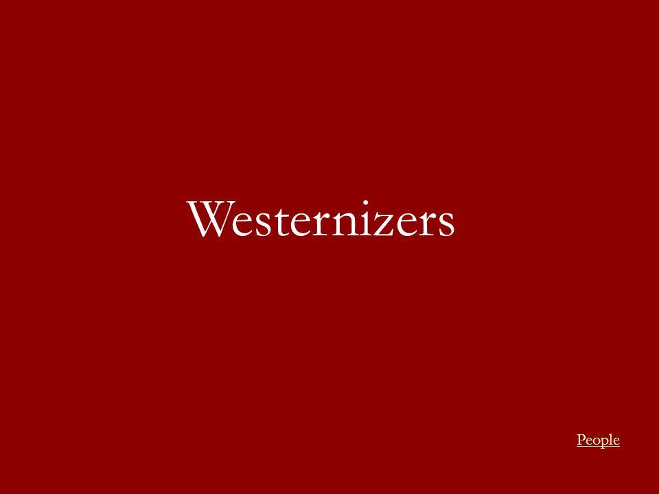 Westernizers People