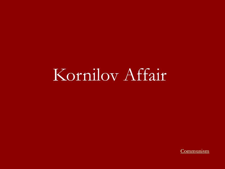 Kornilov Affair Communism