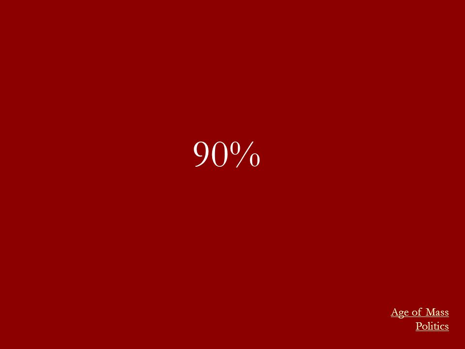 90% Age of Mass Politics