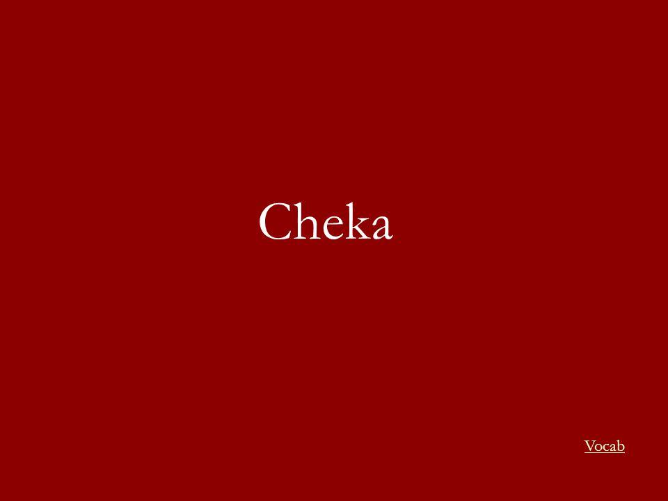 Cheka Vocab