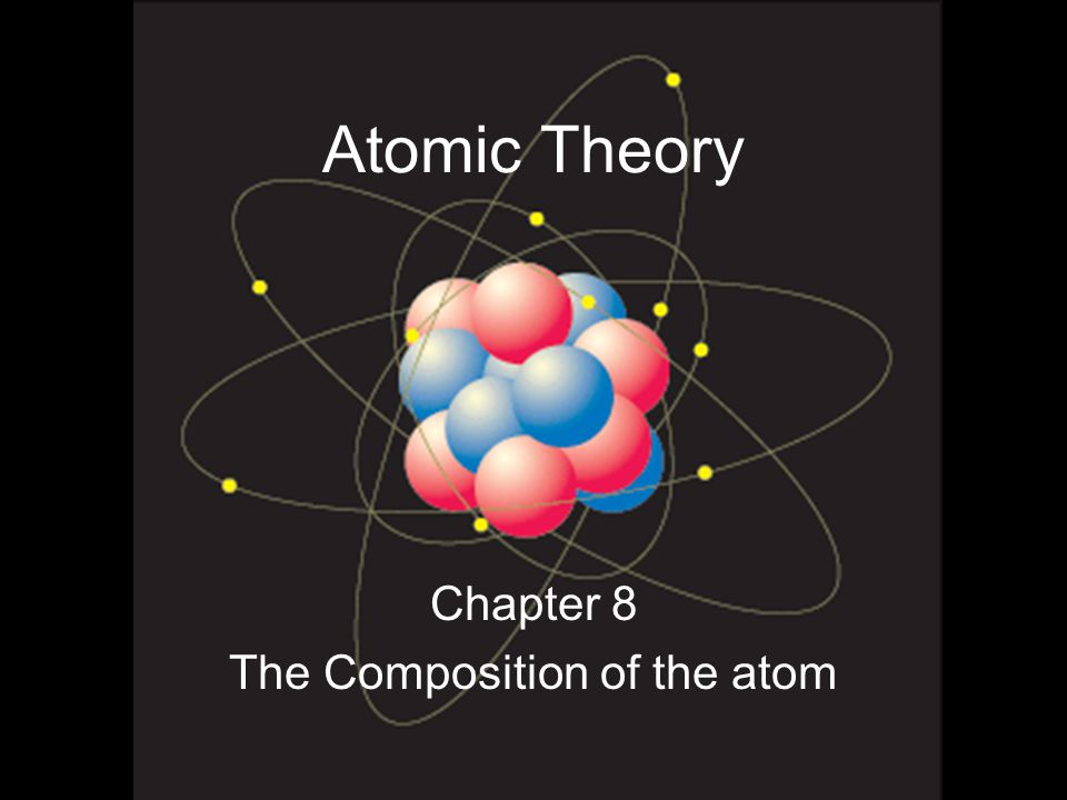 Chapter 8 The Composition of the atom