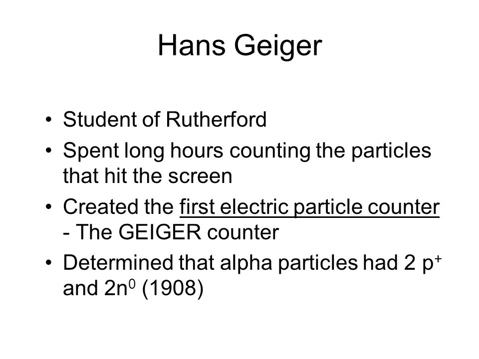 Hans Geiger Student of Rutherford
