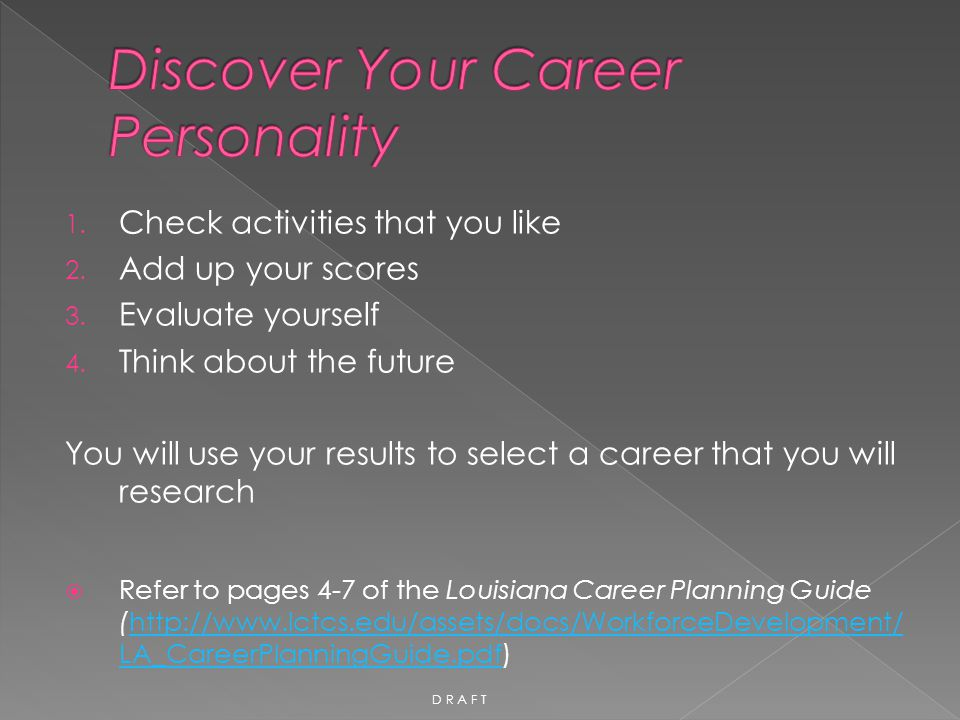 Discover Your Career Personality