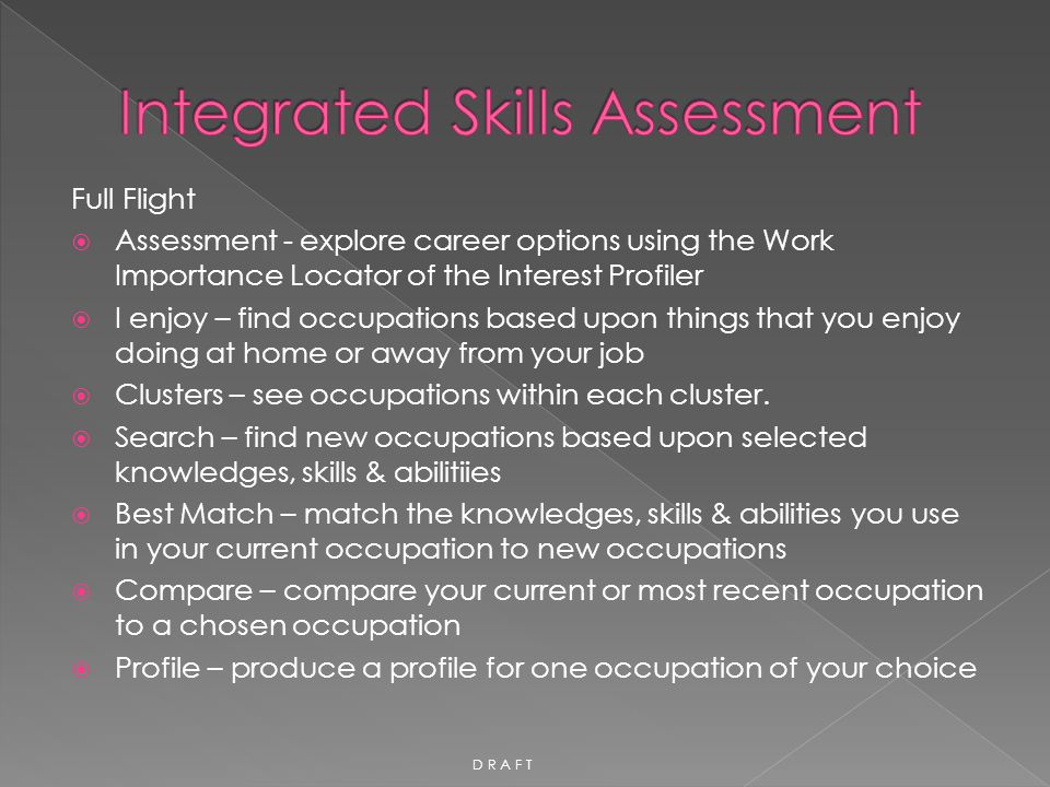 Integrated Skills Assessment