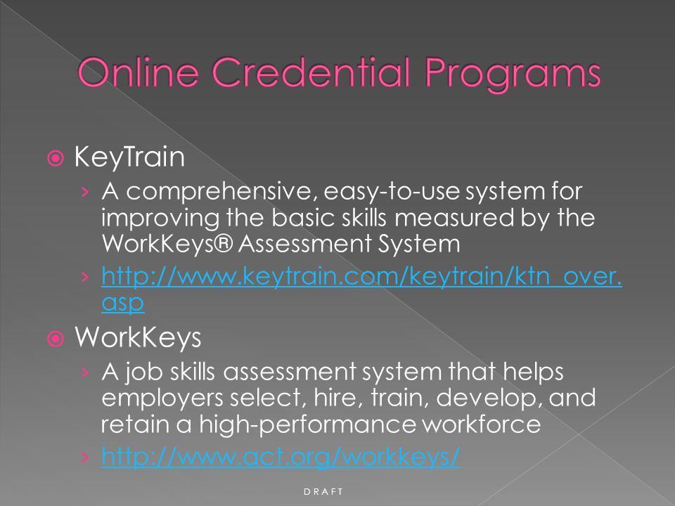 Online Credential Programs