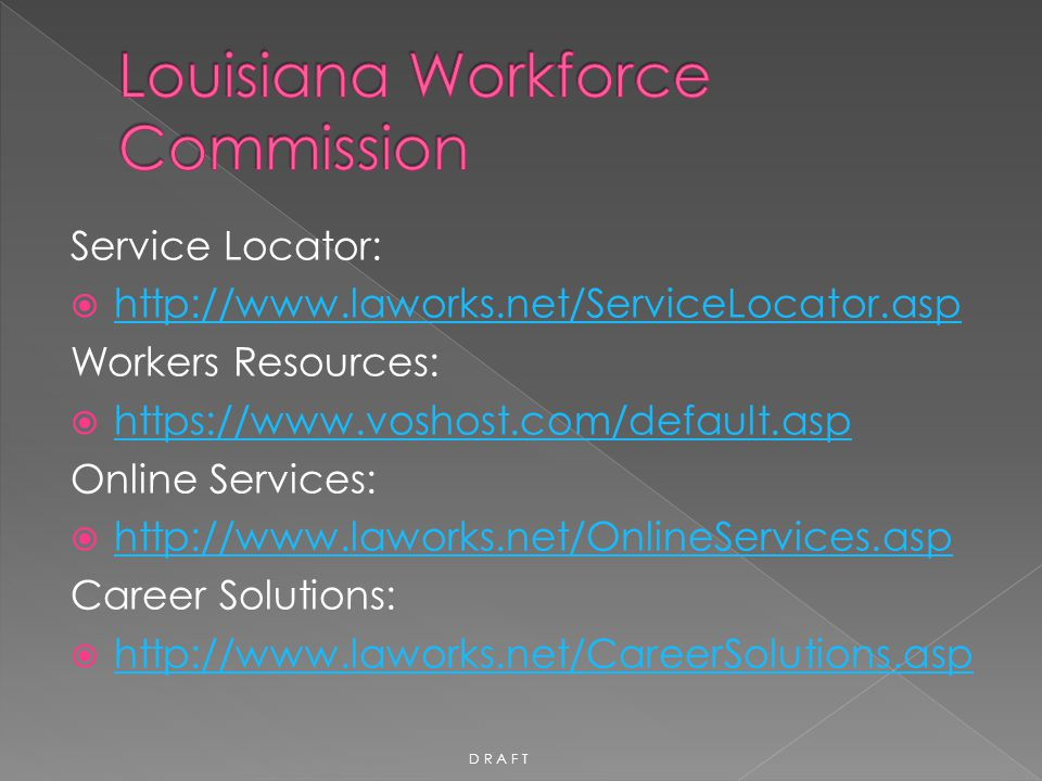 Louisiana Workforce Commission