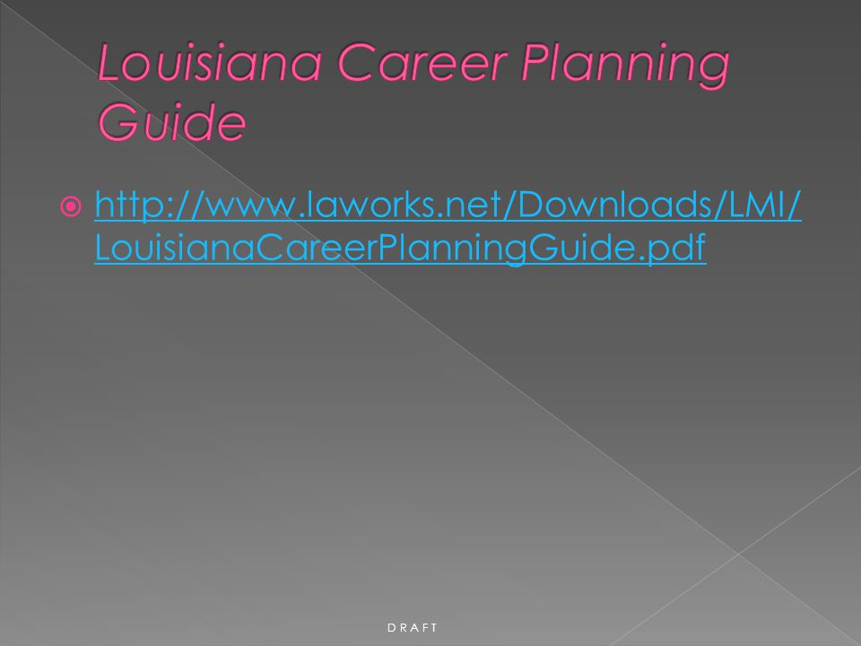 Louisiana Career Planning Guide