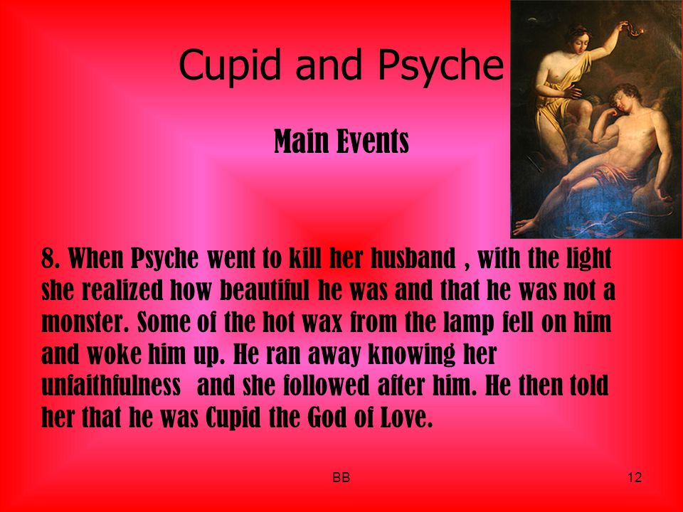 Cupid and Psyche Main Events