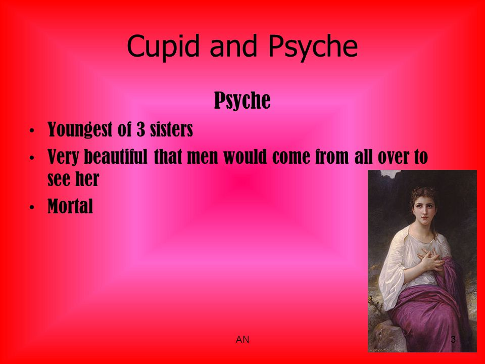 Cupid and Psyche Psyche Youngest of 3 sisters
