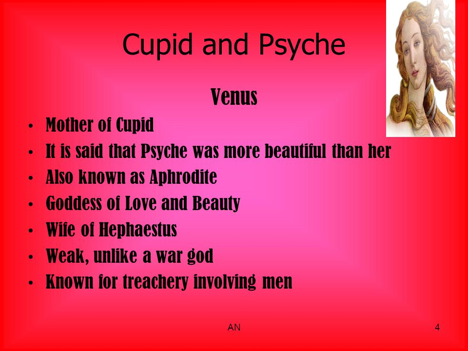 Cupid and Psyche Venus Mother of Cupid