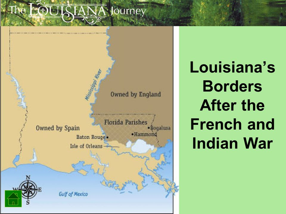 Louisiana's Borders After the French and Indian War
