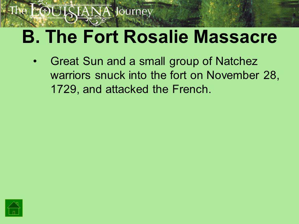 B. The Fort Rosalie Massacre