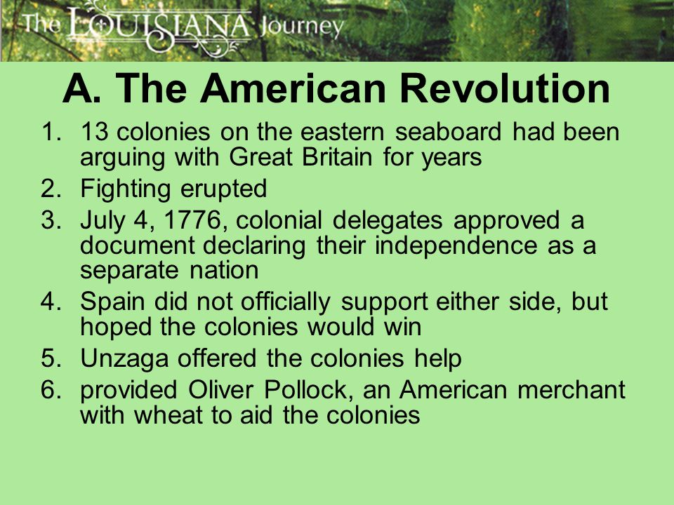 A. The American Revolution