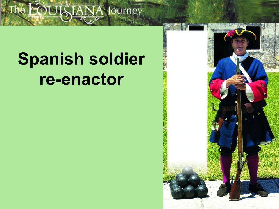 Spanish soldier re-enactor