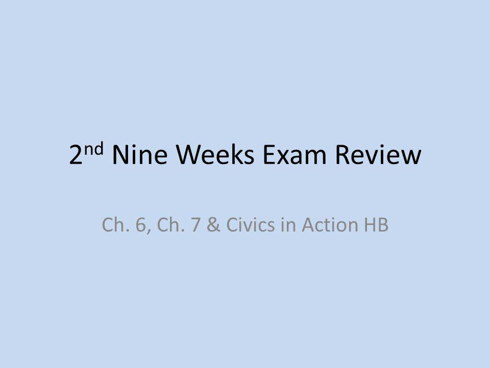 2nd Nine Weeks Exam Review