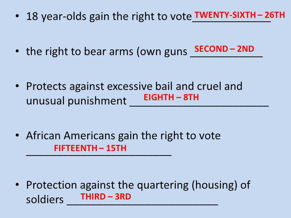 18 year-olds gain the right to vote_____________