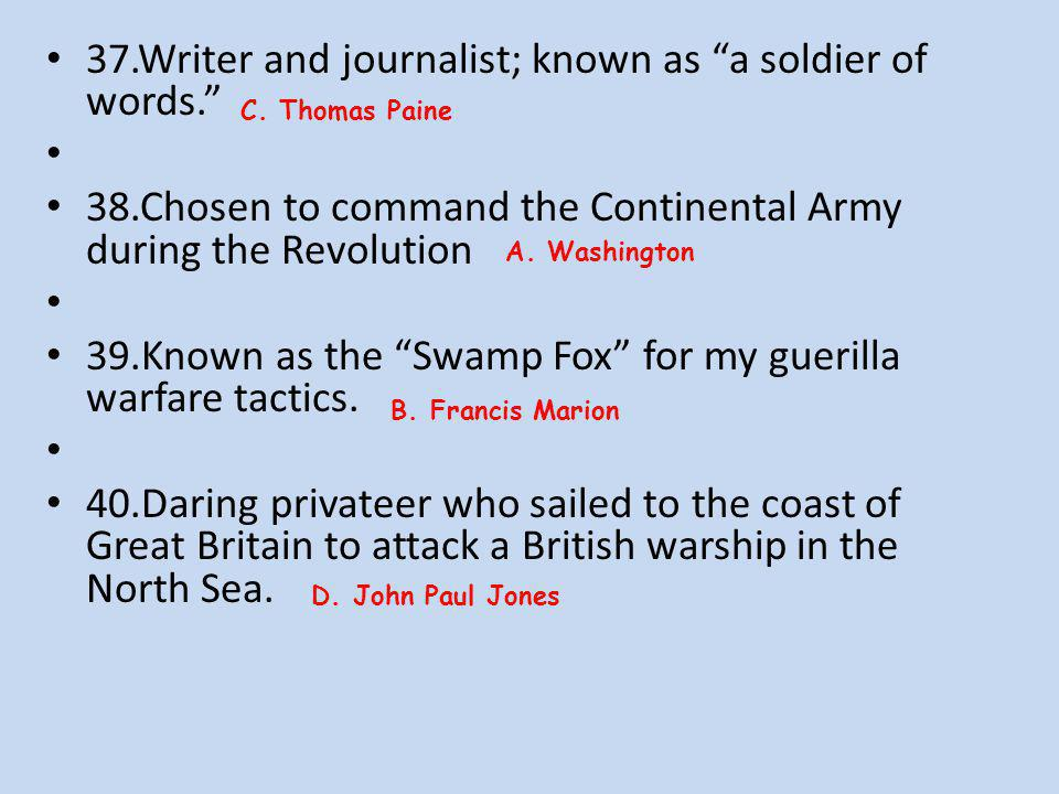 37.Writer and journalist; known as a soldier of words.