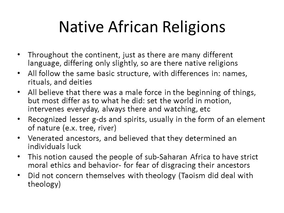 Native African Religions