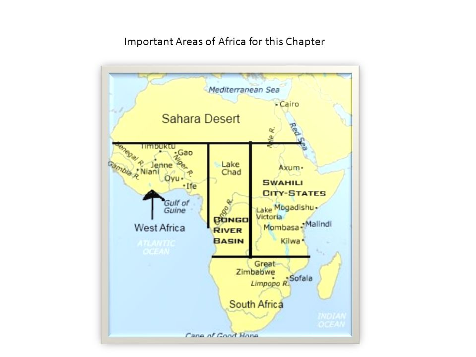 Important Areas of Africa for this Chapter
