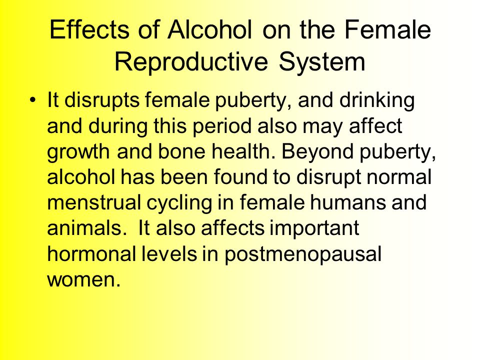 Effects of Alcohol on the Female Reproductive System