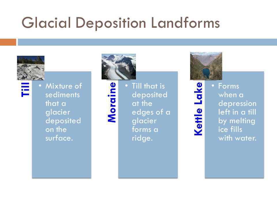 Glacial Deposition Landforms