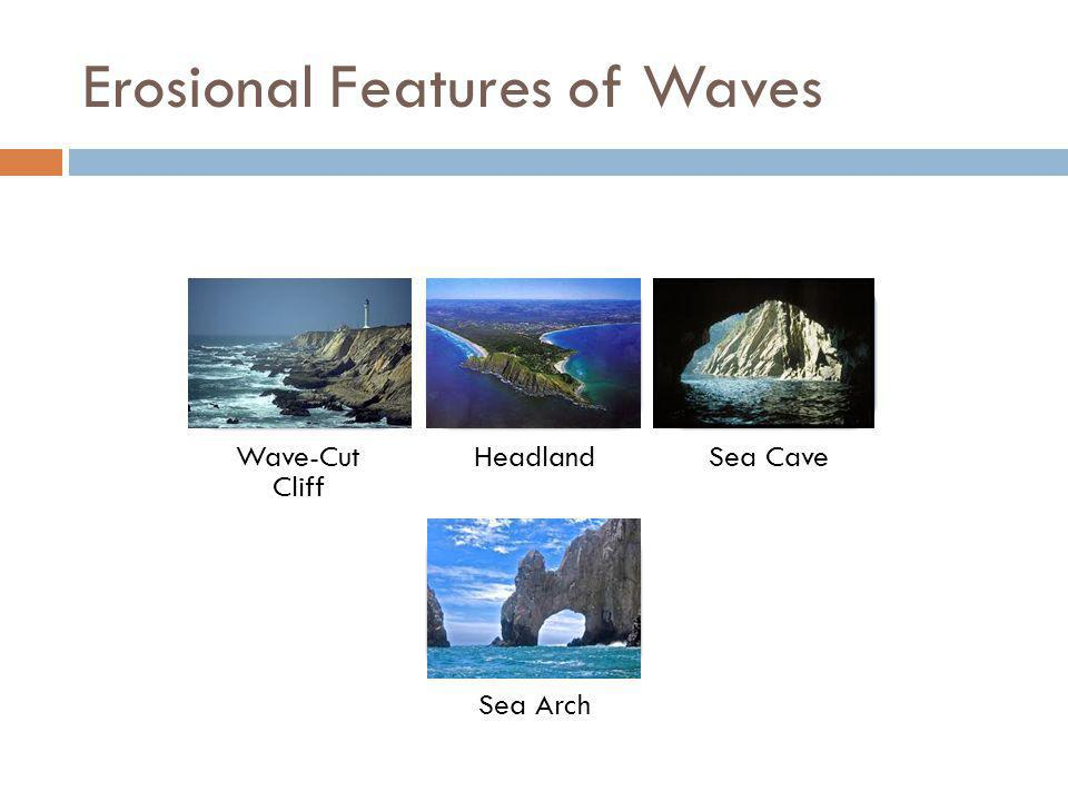 Erosional Features of Waves