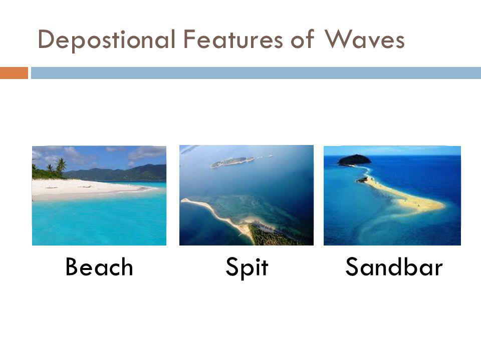 Depostional Features of Waves