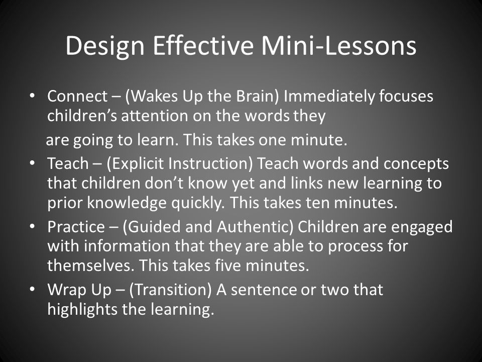 Design Effective Mini-Lessons