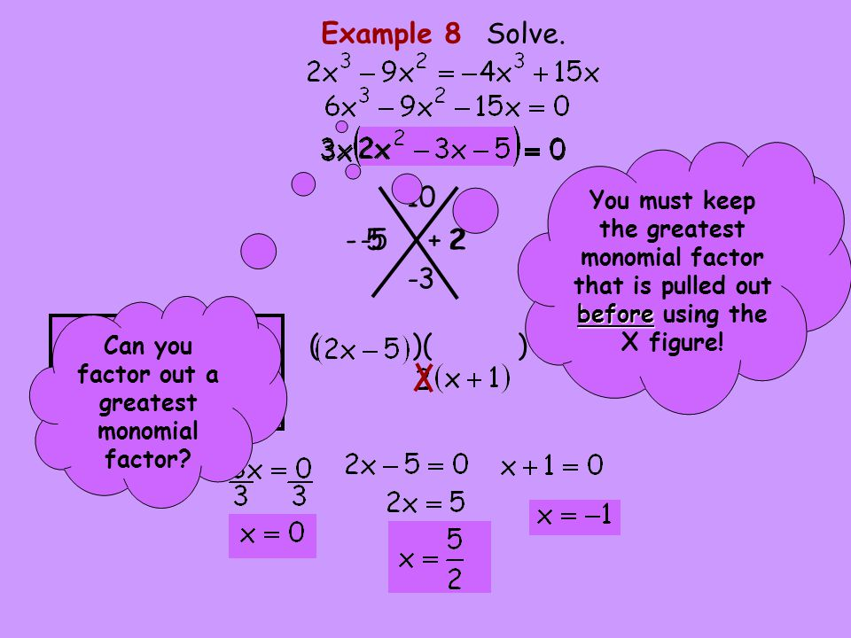 Can you factor out a greatest monomial factor