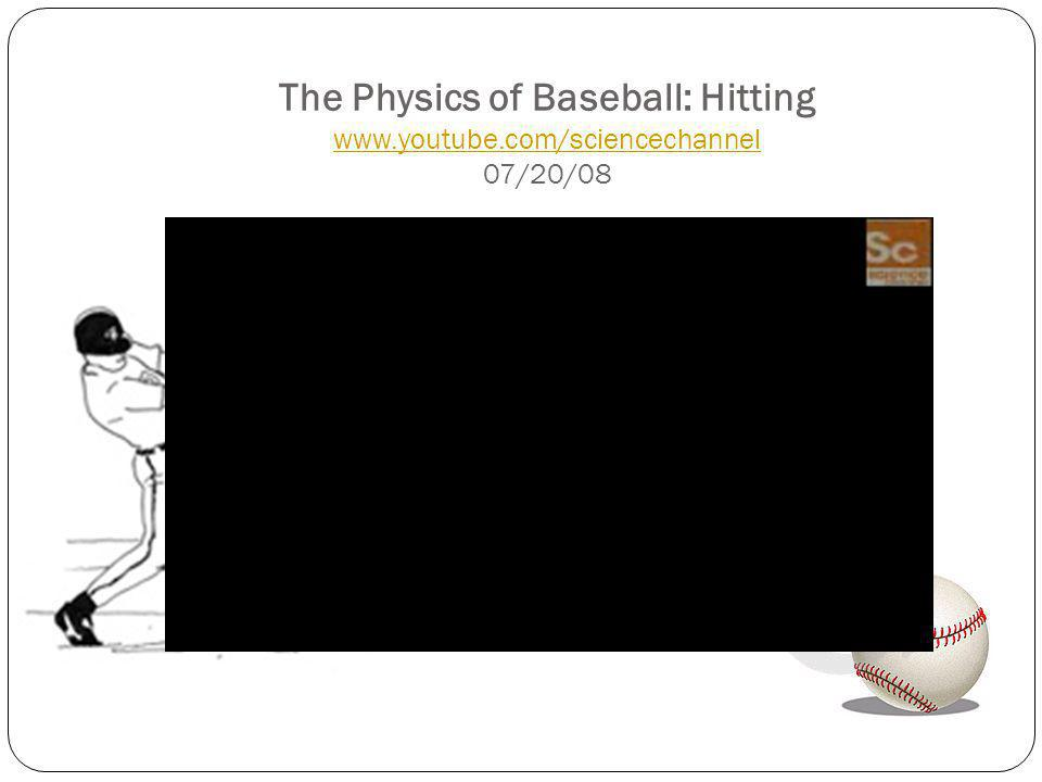 The Physics of Baseball: Hitting www. youtube