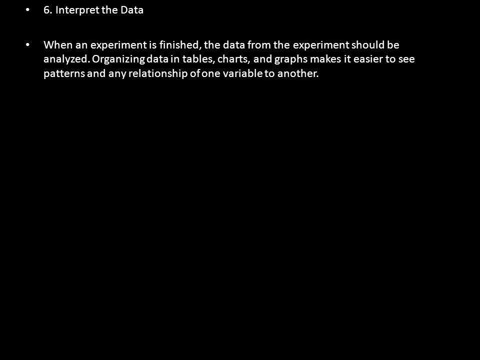 6. Interpret the Data